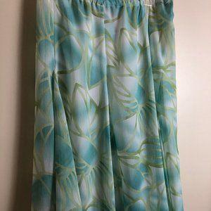 Ruby Rd Palm Leaf Print Skirt - Petite